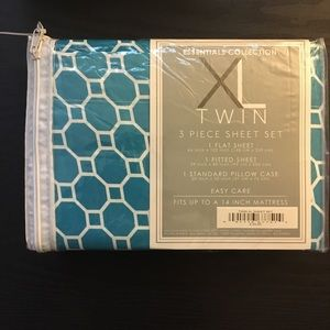 Essential collection xl twin 3 piece sheet set